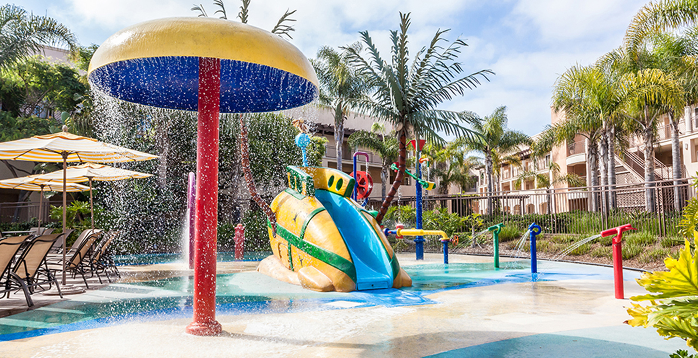 Family Pool with Kids Splash Pad and Interactive Water Toys